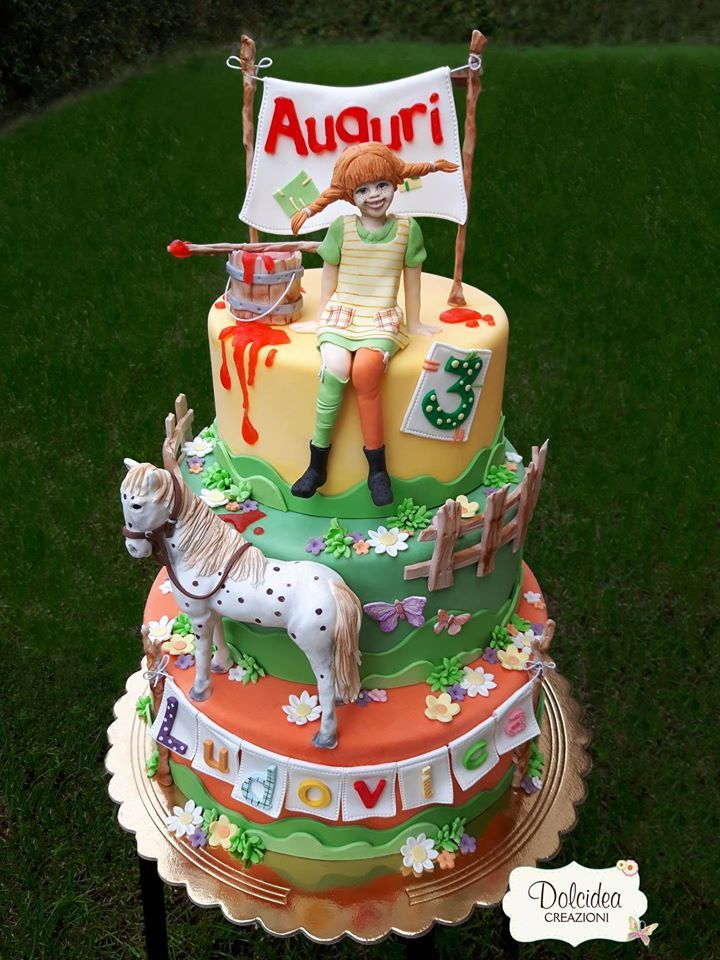 Torta Pippi Calzelunghe - Pippi Longstocking cake