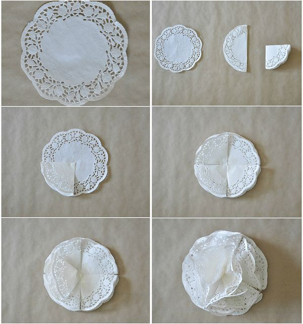 Make paper doily balls for baby's room