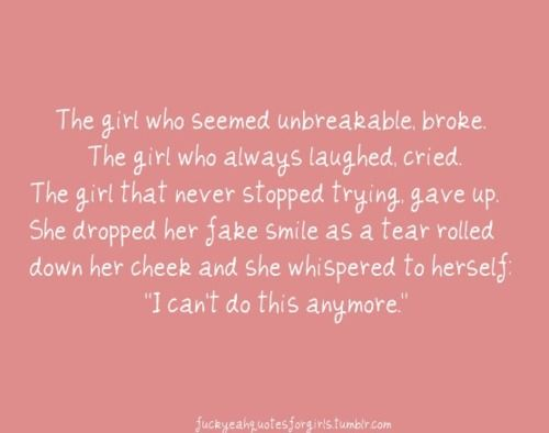 Now it's time to rebuild. I'm done being broken. I'm tired of hiding and crying. Watch out world, here I come! And this time I'm twice as strong simply because you've broken me before!!