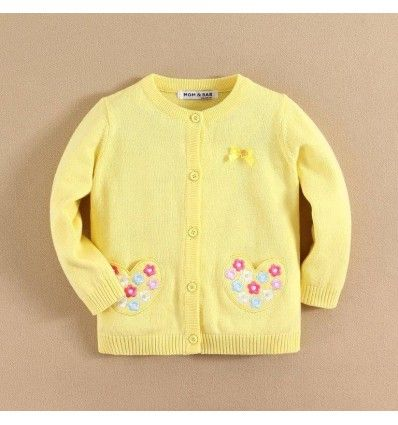 Jual sweater bayi anak Mom and Bab Yellow Flower Series - Flowers Cardigan