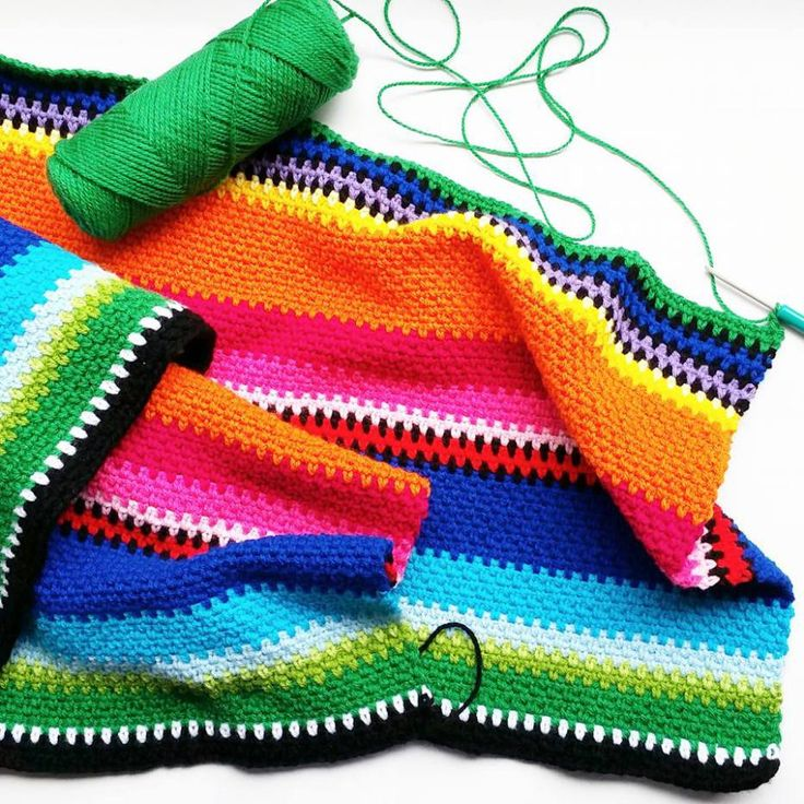Crochet Mexican Inspired Blanket - Free Crochet Pattern - Love This!!! First…