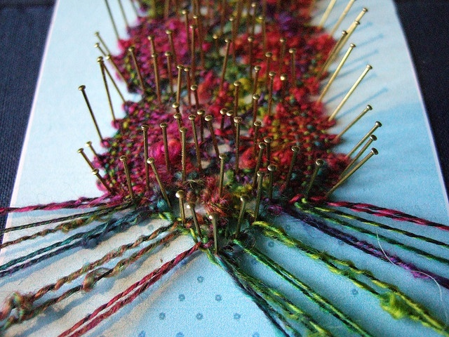 woolly lace, bobbin lace by guzzisue, via Flickr