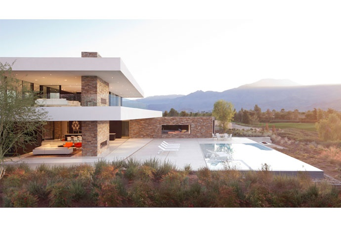 Xten Architecture, Desert Panorama House. On the other hand, it is really easier to design when the site gives you no constraint (vs. e.g. Ando's houses in japanese cities).