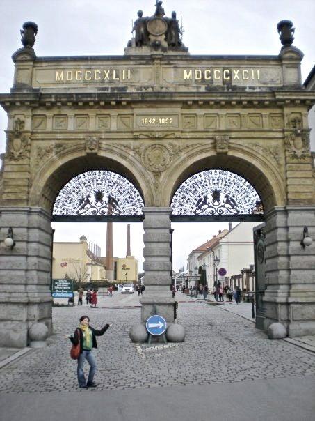 Pilsner Urquell Beer Brewery Gate - Plzeň, Czechia #brewery #pilsen #czechia #city