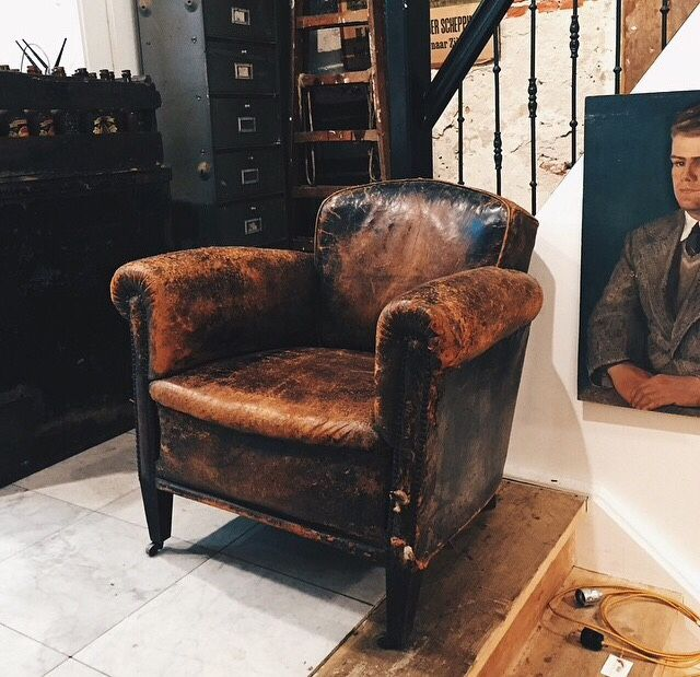 Old Vintage Leather Chair