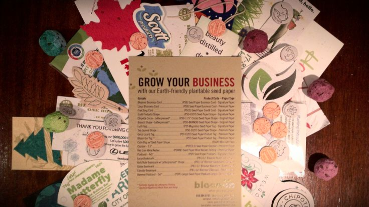Just a neat eco-friendly way to get your name out there. Use plantable seed paper to promote your brand this spring!