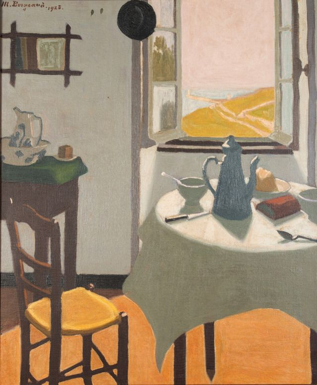 Marius Borgeaud (Swiss, 1861 - 1924) Breakfast at Audierne Oil painting, 65 x 54 cm Fondation de l'Hermitage, Lausanne VIA