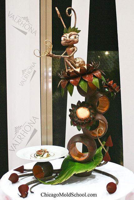 Chocolate Showpiece - Coupe du Monde de la Patisserie 2011 - The Chicago School of Mold Making #chocolate #showpiece