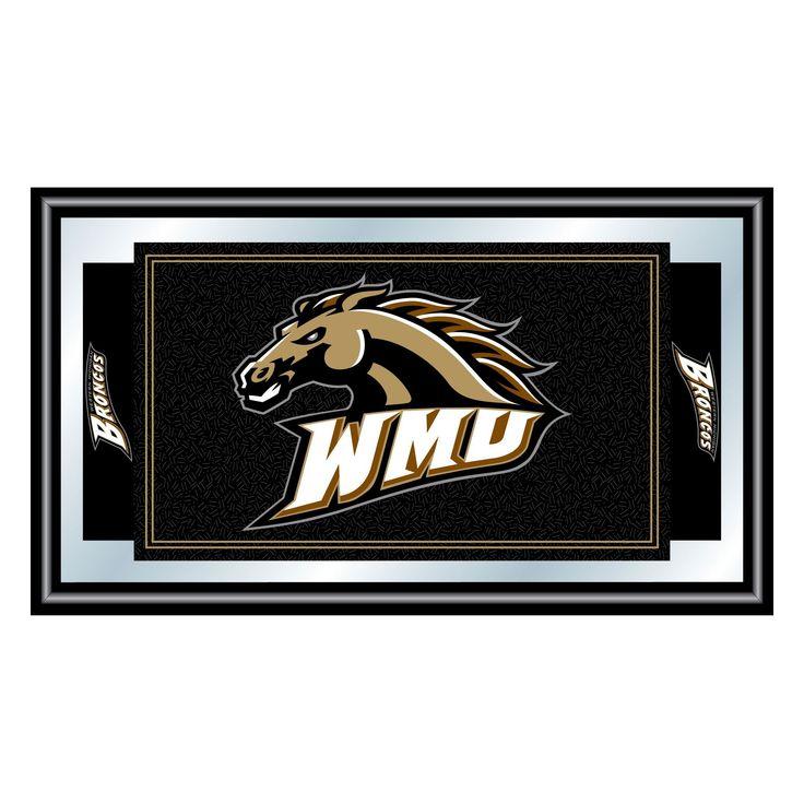 Western Michigan Broncos Team Logo Wall Mirror,