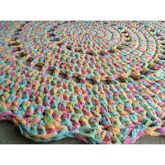 #round #crochet #rug ashandkay's photo on Instagram