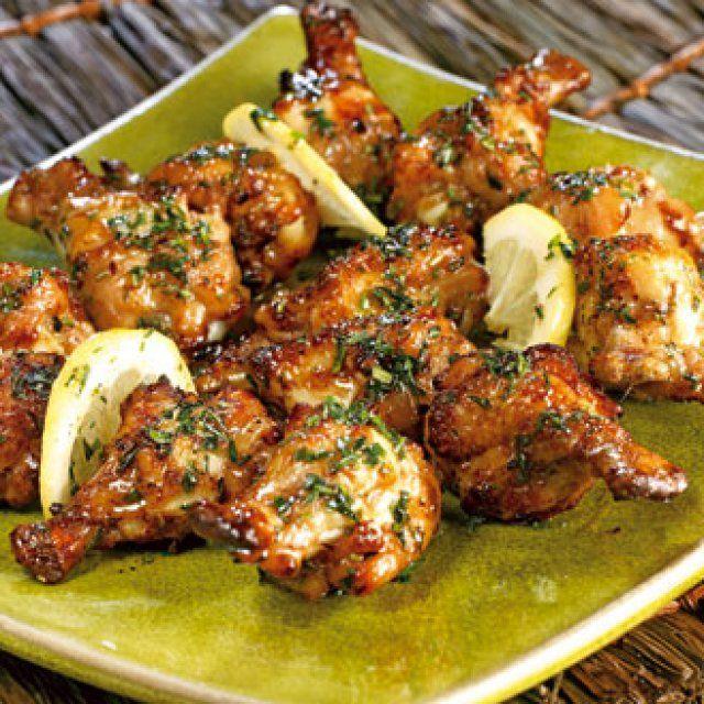 recette Pilons de poulet grillés aux herbes                                                                                                                                                                                 Plus