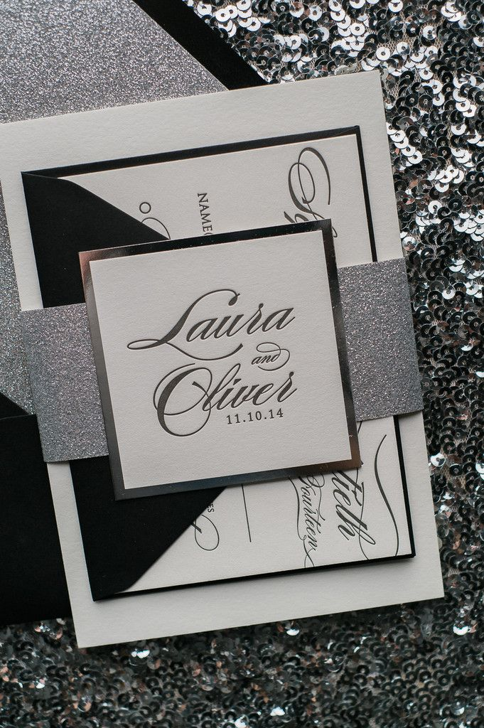 what does it mean when wedding invitation says black tie invited%0A DIANE Suite Glitter Package  Trendy WeddingBlack Tie