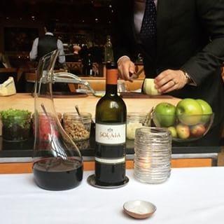 Waldorf salad & perfect wine #foodie #solaia #supertuscan #myfavoritethings (i have so many) #세상엔맛있는게너무많아 #언제다먹지 #おいしかった #gymtime#elevenmadisonpark