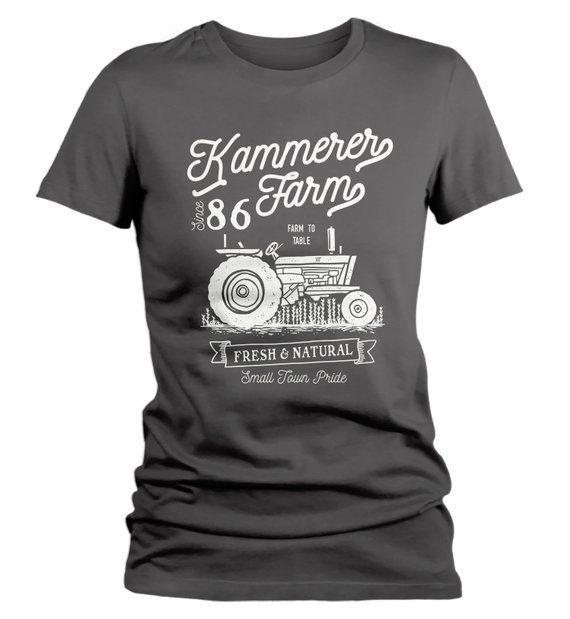 9e198d45137a8 Women's Personalized Farm T-Shirt Vintage Tractor Farmer Shirt ...