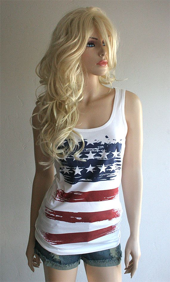 Southern Girl  Tank Top with American Flag  by SouthernGirlApparel, $26.00 @Katie Duyck