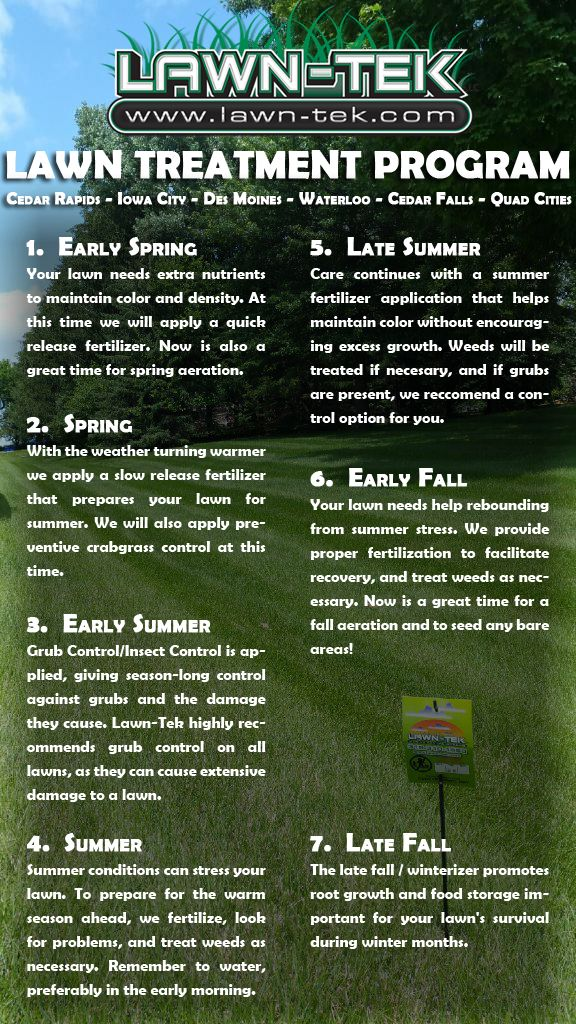 Sometimes, maintaining a healthy lawn is too time consuming and stressful for homeowners. That's why a good Des Moines lawn care service is important to find. We make custom recommendations for each lawn we treat, but here are five best practices for maintaining a beautiful lawn. Also, for base pricing on all of our lawn services, please see our pricing guide.   Pest Control in Des Moines, Iowa Ants, ticks, spiders, and a veriety of other pests are a big problem for Des Moines, IA homeowners… Lawn-Tek