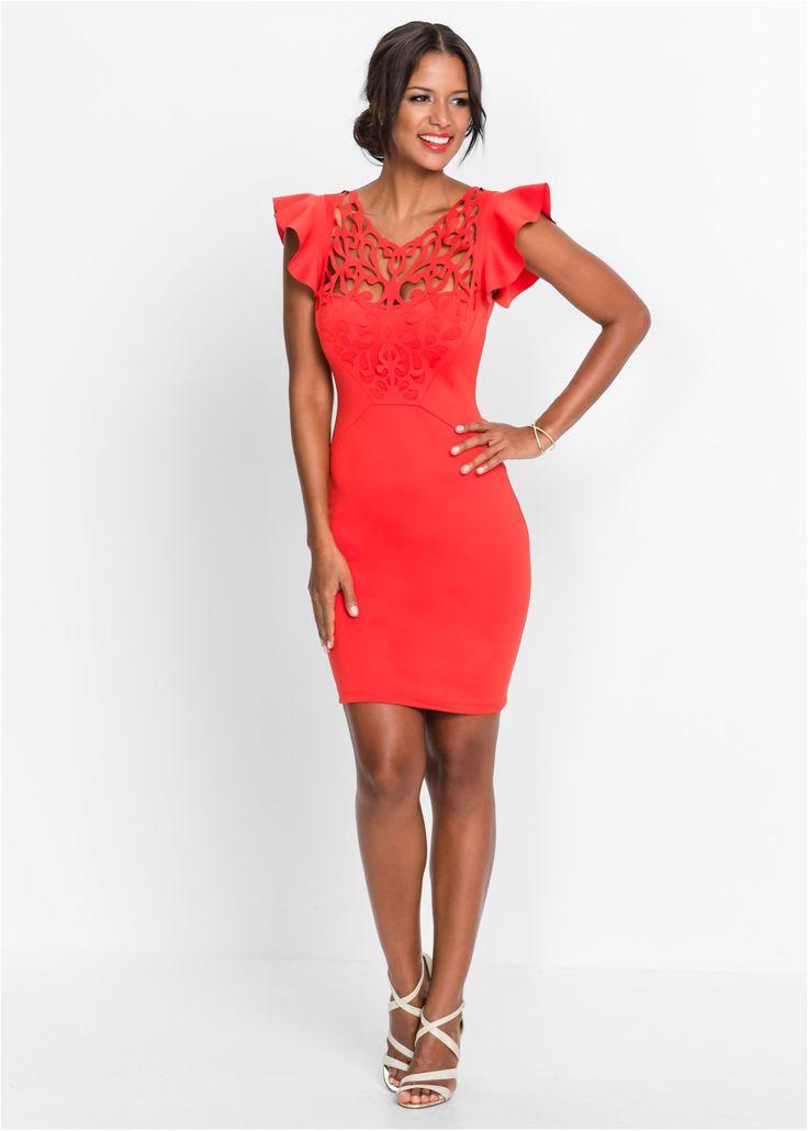 Kleid rot jetzt im Online Shop von bonprix.de ab ? 32,99 bestellen. Romantischer Lady Chic mit Cutouts und Flügelärmeln. Einfach hinreissend!