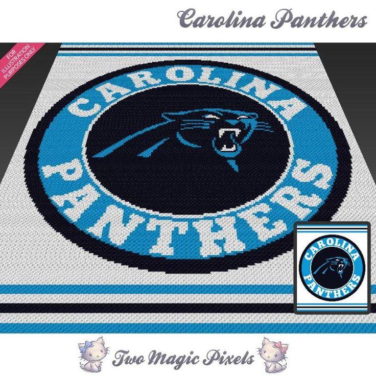 54 Best Crochet Carolina Panthers Images On Pinterest