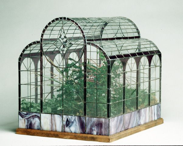 glass terrariums (people in glass houses shouldn't throw rocks) change in the basement etc. (funny to sad)