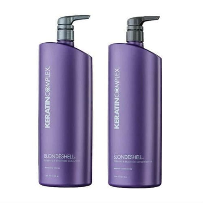 The Ten Best Shampoos For Blonde Hair // #5 Keratin Complex Blondeshell Debrass & Brighten Shampoo and Conditioner