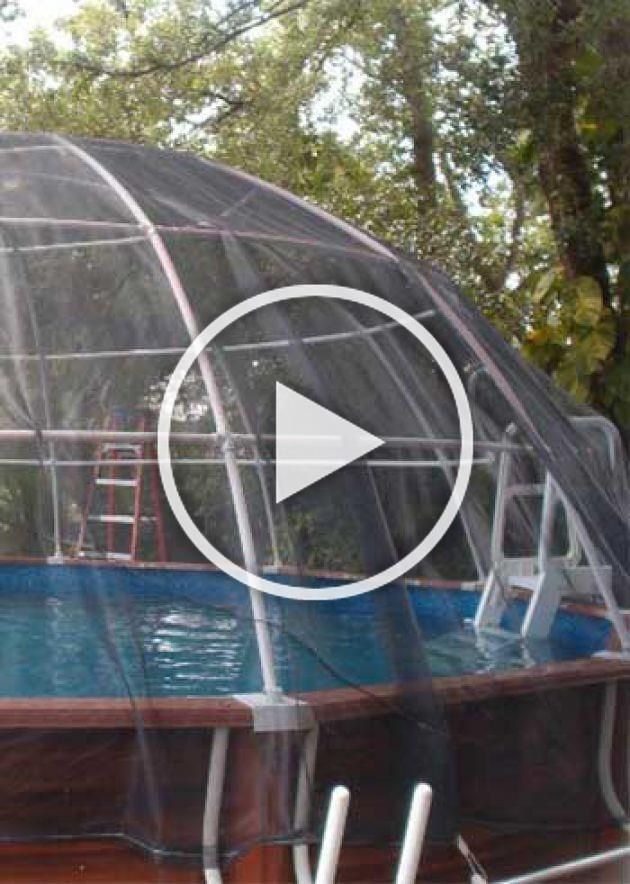 Pool Igloo Above Ground Pool Enclosure Pool Enclosures Above Ground Pool In Ground Pools