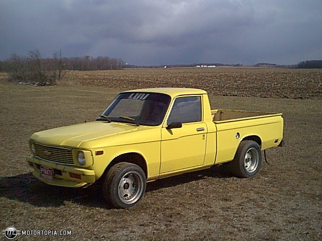 Yellow Chevy Luv First Car Sophomore Year High School
