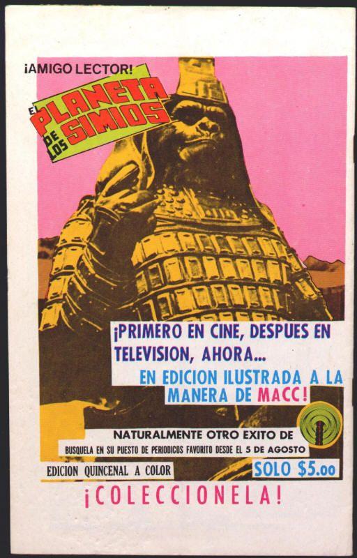 Mexico: Capitan Marvel #21 (Captain Marvel #23 in U S ) (back cover