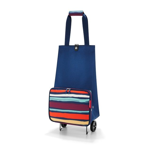 Foldable Trolley Shopping Bag in Artists Stripes from Reisenthel