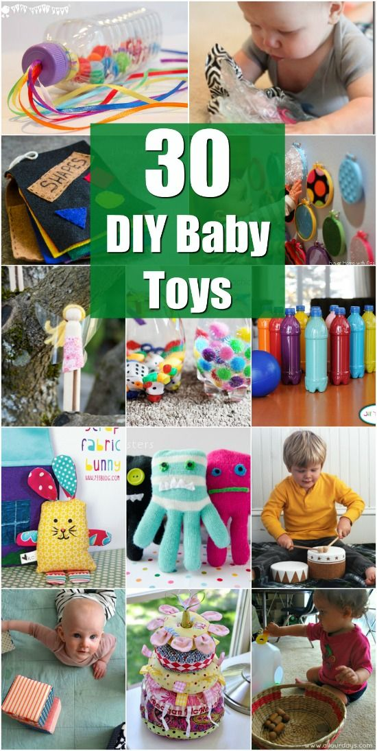 30 Fun And Educational Baby Toys You Can DIY In Your Spare Time via @vanessacrafting