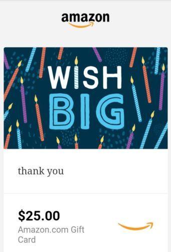 $25 Amazon electronic Gift Card
