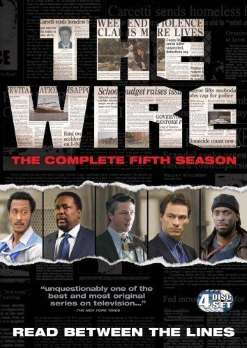 The Library owns seasons of the Wire.  Ask a librarian for further details.  Google Image Result for http://4.bp.blogspot.com/-OLXsEPNLi7o/ThUOnIkJUvI/AAAAAAAABE8/tPri6iewA6I/s1600/the%2Bwire%2Bs5.jpg