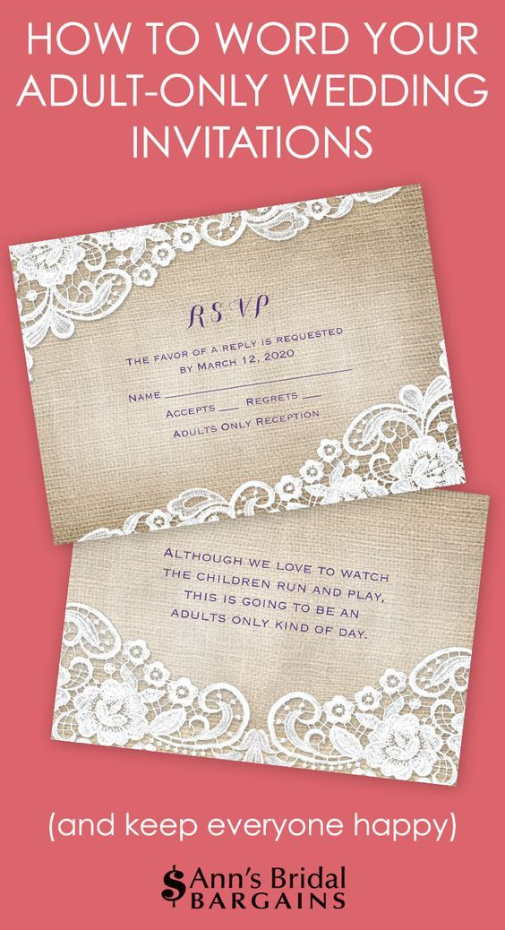 Etiquette states that the best way to communicate an adult-only wedding is by properly addressing the inner envelopes of your wedding invitation. What's an inner envelope? Good question.
