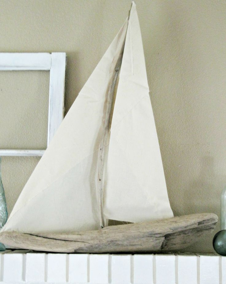 Diy driftwood sailboat tutorial for jameson cole for Diy driftwood sailboat