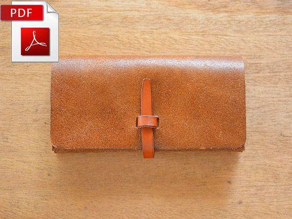 Leather wallet pattern. PDF by Craftstore16 on Etsy