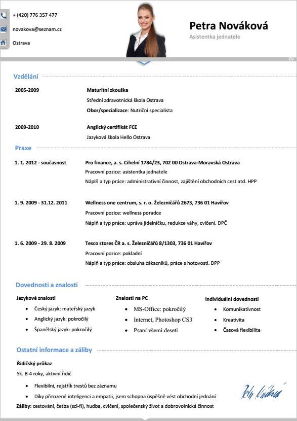 Nový Pro-CV vzor životopisu, již k dostání v našem e-shopu http://www.pro-cv.cz/kategorie-produktu/pro-cv-vzory-zena/