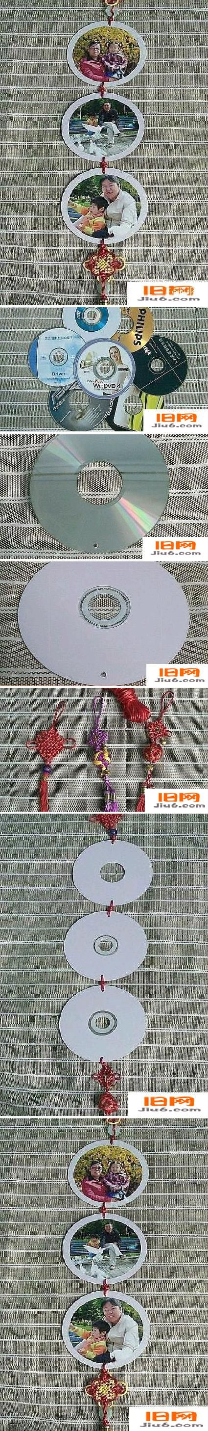 DIY Old CD Picture Mobile