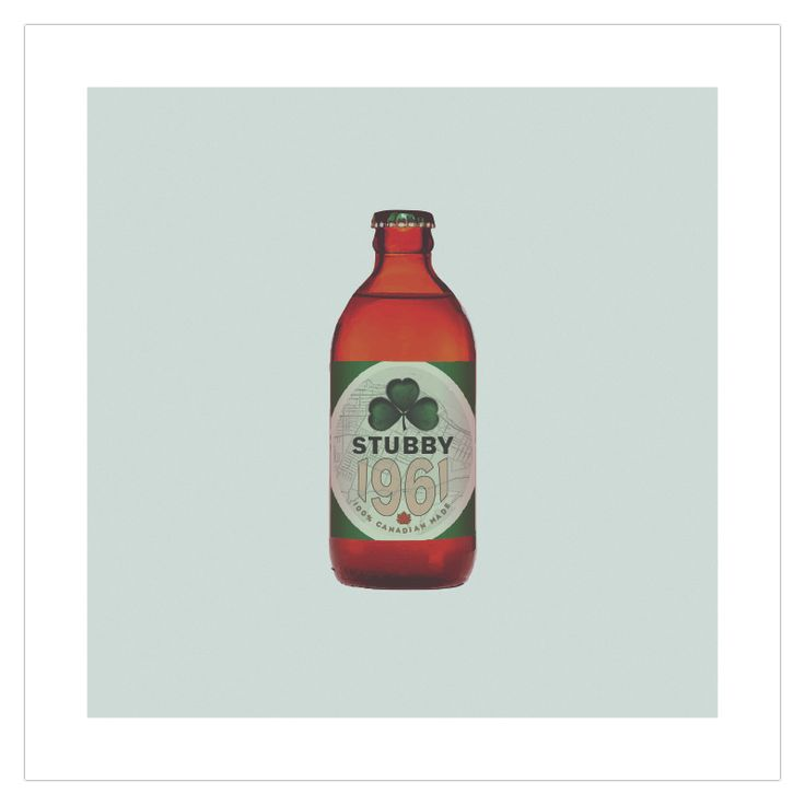 The 'Stubby' lucky Irish edition art poster from ManMade Art appeals to our love of beer and brings back memories of the glory years when the quirky Canadian bottle reigned supreme. Great as a gift for men, or decoration for a condo, apartment or man-cave!