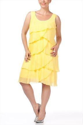 Sarı Elbise U28042 Faik Sönmez | Trendyol