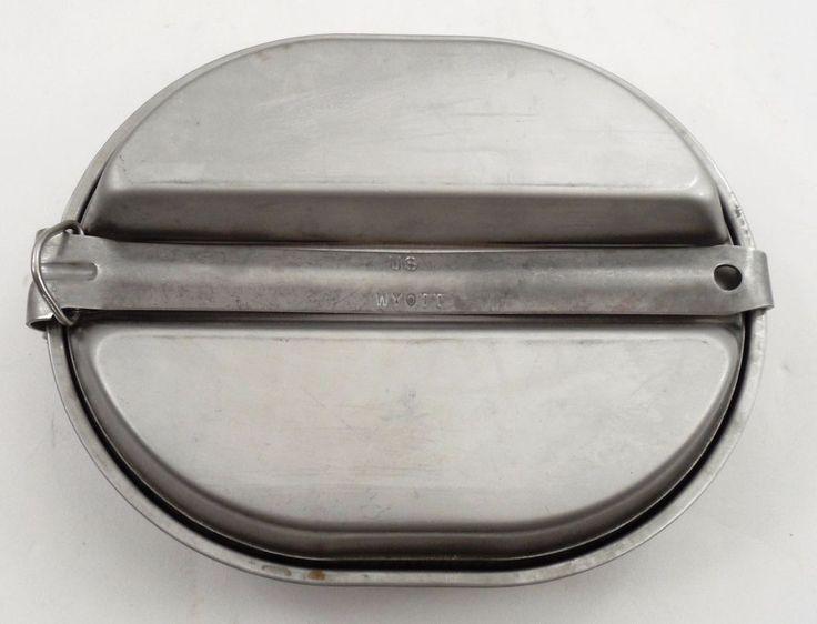 US Military Surplus USGI Issue Mess Kit Pan Pot Plate Only Wyott Manufacturing