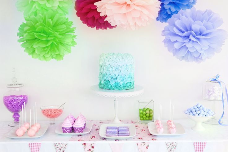 Have fun with your #tablescape! Pom Poms, confetti, and colorful treats can help make your table decor vibrant!