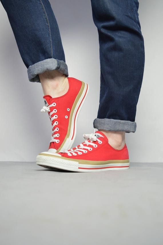 9a4838abad041 Vintage 90s Converse Red Ox Shoes Trainers Sneakers Chuck Taylor All ...