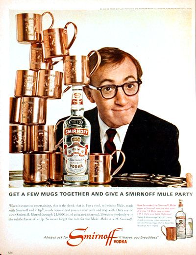 Vintage ads featurning classic celebrities | ... ad featuring a very smiley Woody Allen and here's what I learned