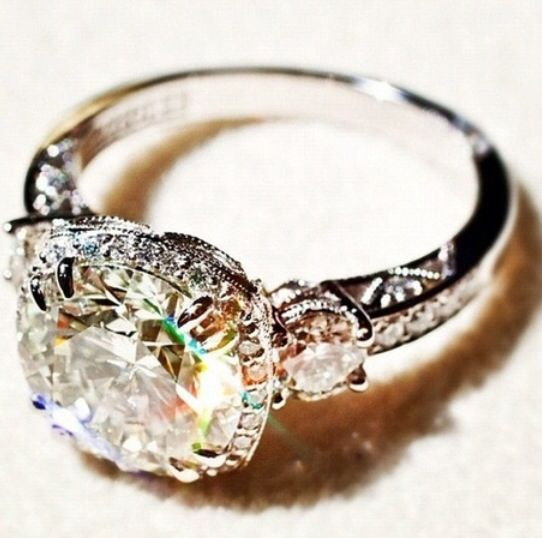 176 best wedding rings images on pinterest rings beautiful and i would put sapphires on the side where the smaller diamonds are junglespirit Choice Image