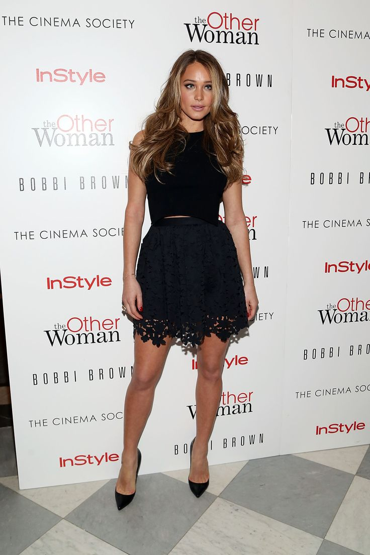 Hannah Davis attends The Cinema Society & Bobbi Brown with InStyle screening of The Other Woman. http://aol.it/1u8r7dQ