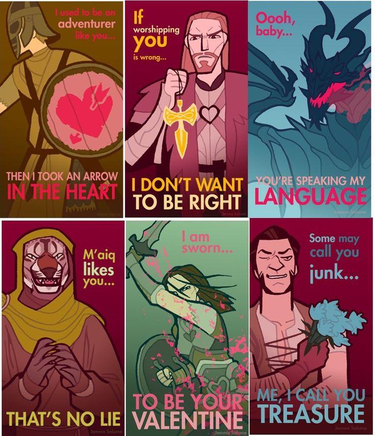 aww! Skyrim Valentines