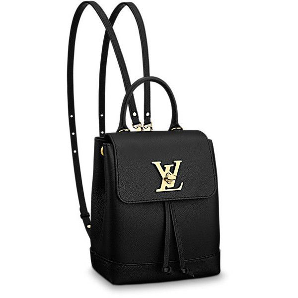 LOUIS VUITTON Lockme Backpack Mini (544.375 HUF) ❤ liked on Polyvore featuring bags, backpacks, louis vuitton, louis vuitton knapsack, backpack bags, rucksack bags and miniature backpack