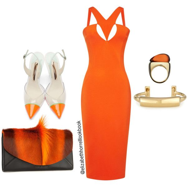 Liz by elizabethhorrell on Polyvore featuring Cushnie Et Ochs, Sophia Webster, Ted Baker, Pluma and Baccarat