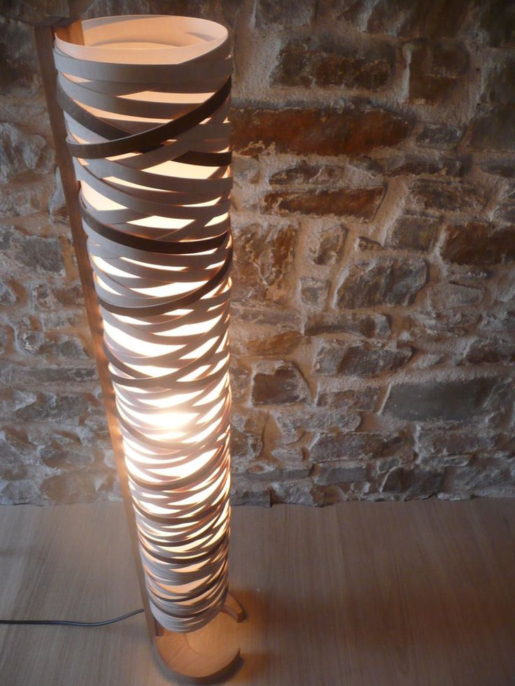 CONVOLUTION 4FT FLOOR LAMP, CONTEMPORARY, UNIQUE, HANDMADE ...