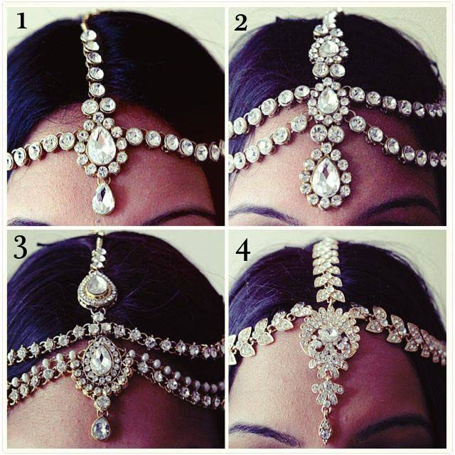 Diamanté exclusive headpiece with clear diamanté on a gold coloured backing. Made from diamante rhinestones and high quality stones that dangle onto the forehead from the hair.An exclusive one off piece! Perfect for brides, birthdays, parties or proms! This piece of hair jewelry will beautify any...