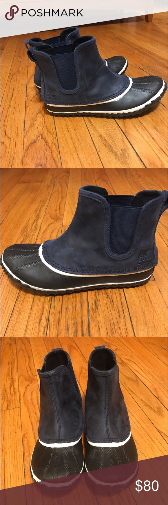 Sorel rain bootie Navy and black Sorel rain booty Sorel Shoes Winter & Rain Boots